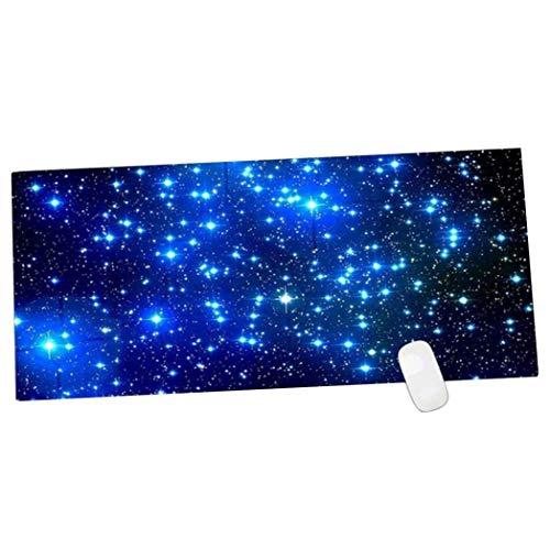 SLM-max kleur tafel mat grote muis pad, eenvoudig patroon antislip laptop pad, Lock bureau pad toetsenbord
