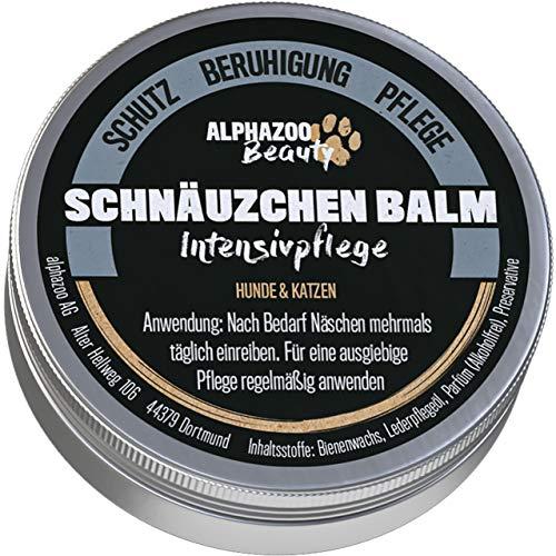 alphazoo Schnäuzchen Balm   Nasen- und Schnauzenbalsam für Hunde & Katzen   beruhigt und pflegt trockene & rissige Haut   natürliches Balsam für trockene Hundenasen   spendet Feuchtigkeit