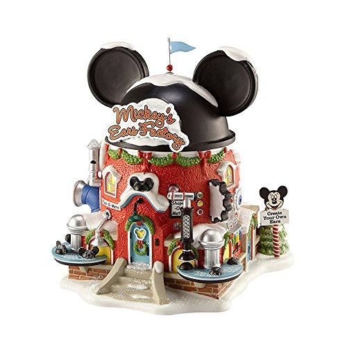 Department 56 North Pole Village Mickey's Ear Factory Miniatur-beleuchtetes Gebä...