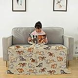 Shibes - Manta de franela de color crema, mullida, suave, acogedora, ligera, cálida manta de forro polar de franela para sofá de cama