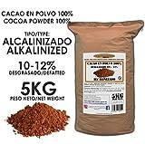 Cacao Venezuela Delta - Cacao en Polvo Puro 100% · Alcalinizado · Desgrasado 10-12% · 5kg