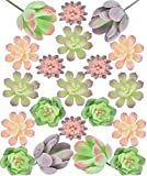 Seeko Mini Artificial Succulents - 20 Pack - Fairy Garden Accessories for Fairy Houses, School Projects, and...