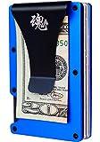 Rigid Wallet for Men Minimalist Slim RFID Sport Blue Aluminium