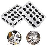 Juego de 2 bloques de precisión de 1-2-3 bloques de precisión de alta precisión, juego ...