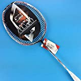 MOOLIGIRL Raquette de Badminton Raquette de Badminton en Carbone léger + Cordage N90 N99