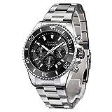 Relojes para hombre Relojes de cuarzo para hombres multifunción cronógrafo acero inoxidable Relojes de pulsera impermeables perfectos..