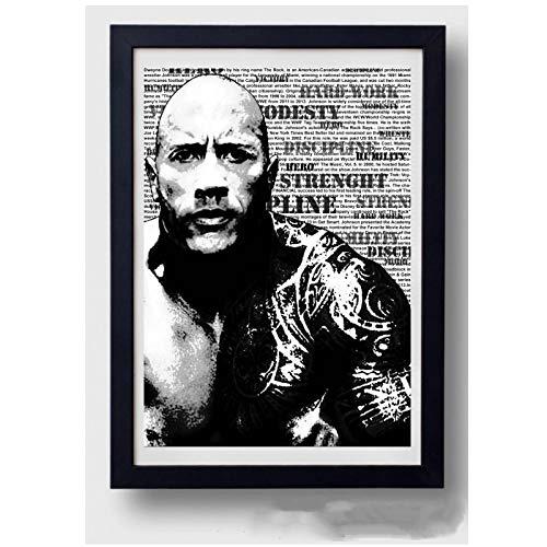 Dwayne Johnson Muscle Bodybuildin Poster Print Fitness imagen inspiradora para la decoración de la pared de la habitación 20x28 pulgadas sin marco