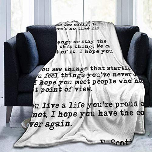 Manta de forro polar softan, manta de felpa para What It's Worth Throw Blanket cálida Cozy Blanket for Kids Boys Girls Adults Fashion Print Manta perfecta para sofá, cama, All Seasons 50' x40