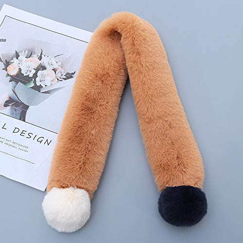 Alvnd kinder cartoon winter nepbont sjaals okselsjaals warme sjaal voor mannen vrouwen (29,5