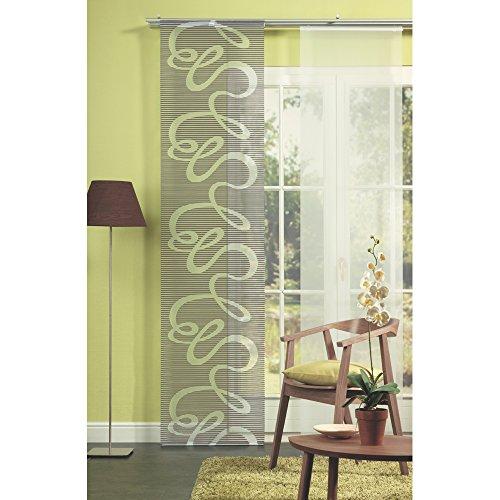 Home Fashion 87678-760 Panel japonés, decoración-Scherli, 245 x 60 cm, Piedra