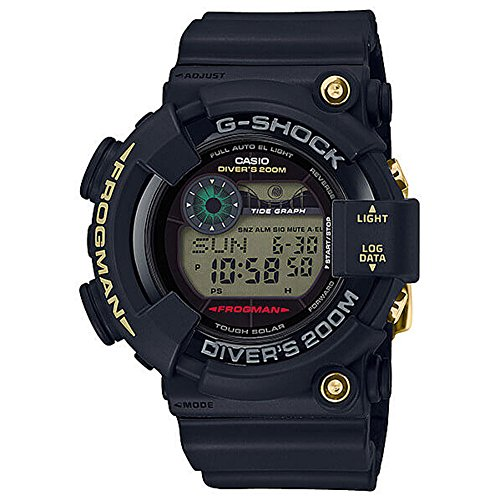 Casio G-Shock 35th Anniversary Frogman GF8235D-1B Black Gold Tough Solar Tide Watch GF-8235D-1B