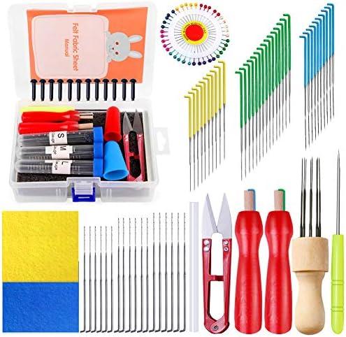 95Pcs Felting Needles Needle Felting Tools Kit with 8 Needles Felting Tool Holder Foam Mat Scissors product image