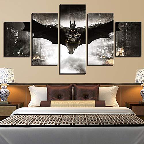 SSRSHDZW Peinture en aérosol HD Core Five Fight Film Personnage Batman Peinture décorative Maison Chevet Suspendu Peinture, étanche Facile à Installer Art Toile Anime,A,40x60X2+40x80X2+40x110