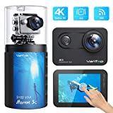 VanTop Moment 5C Native 4K 60fps WiFi Action Camera with Touch Screen, 20MP