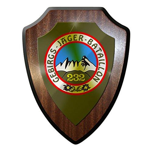 Wappenschild/Wandschild/Wappen - GebJgBtl Gebirgsjäger Bataillon 232#8410