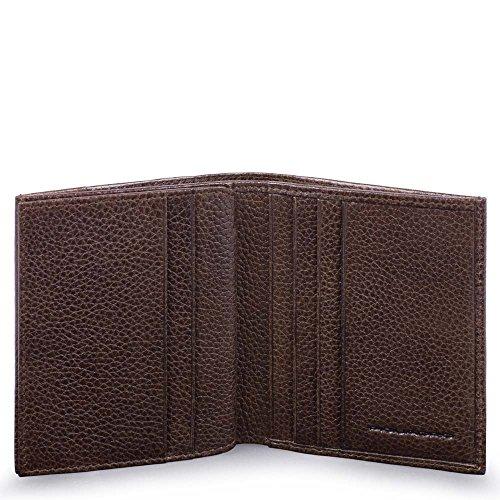 Piquadro Pulse Plus Porta carte di credito, 10 cm, Testa di Moro