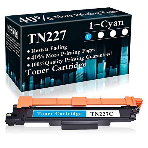 TopInk - Cartucho de tóner cian TN227/TN227C para impresora Brother HL-3210CW 3230CDW 3270CDW DCP-L3510CDW L3550CDW MFC-L3770CDW L3710CW L3750CDW L3730CDW L3730CDW