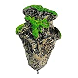 Floating Moss Rocks Resin Stone Decorations Suspended Rock Fish Tank Decoration Rock Aquarium Rocks (One Rock S)