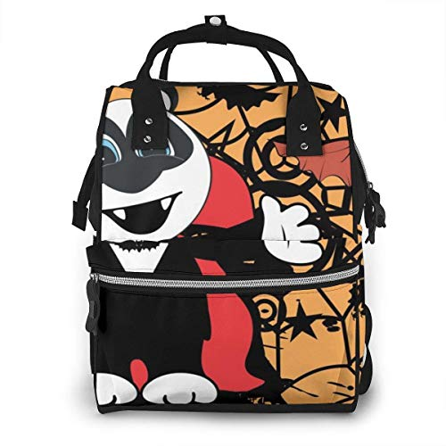 UUwant Sac à Dos à Couches pour Maman Diaper Bag,Versatile Stylish and Durable, Suitable for Mom and Dad,Cute Little Panda Teddy Bear Hug Dracula Costume HalloweenÂ