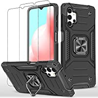 Oborzian Samsung Galaxy A32 4G Case with Screen Protector (Black)