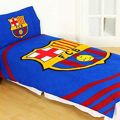 Official La Liga FC Barcelona Single Duvet Cover & Pillowcase Set (Reversible Poly/Cotton)