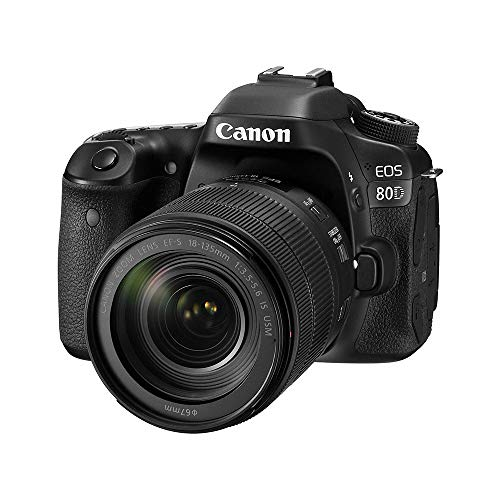 Canon EOS 80D 24.2MP Digital SLR Camera (Black) + EF-S 18-135mm...
