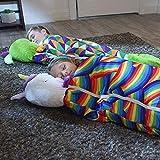 WEWQ Saco de Almohada Sleepy - Bolsa de Dormir cómoda Cozy Compact - Sombrero súper Suave Todo Temporada Temporada Saco de Dormir con Almohada-L_Rojo