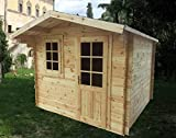 Gartenhaus aus Holz, Typ: Block House, 250x 250x 240 cm, Dicke: 28 mm