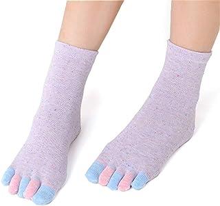 Algodón Yoga Gimnasio Masaje Antideslizante Calcetines Para Mujer Calcetines De Dedo Del Pie Calcetines De Equipo Completo Talón De Agarre