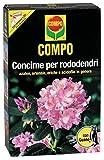 Compo, Concime per Rododendri con Guano, Ottimo Anche per Azalee, ortensie, eriche, Fuchsie e Tutte Le Altre Piante acidofile.1 kg, 4.7x14.2x22 cm