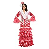 My Other Me Me-203849 Disfraz de flamenca Sevilla para mujer, color rojo, XL (Viving Costumes 203849)