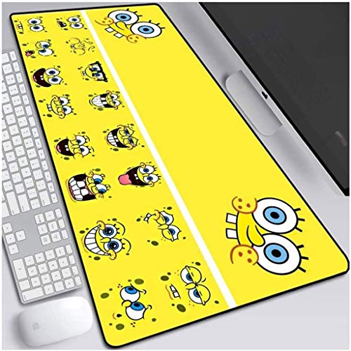 Gaming Mouse Pad Sponge Bob Anime XXL Large Mouse Mat Keyboard Mat Extended Mousepad for Computer Desktop PC Laptop Mouse Pad (Color : I, Size : 800x300x3mm)
