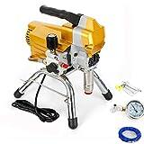 Sistema de pulverización de pintura Airless de 2200 W, 1,8 l/min, 3000 psi, alta presión, para interior y exterior (amarillo)