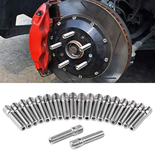JHMJHM Sostituzione Car Parte di Riparazione Auto 20 PCS 5cm Universal Car Modifica ha esteso Ruote Stud conversione M14x1.5 M12x1.5 for Adattatore Vite LN032 LN033 LN044 Noci di Macchina Bulloni