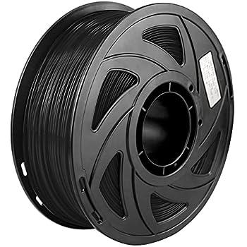 PLA 3D Printer Filament Black PLA Filament 1.75mm Dimensional Accuracy +/- 0.02 mm 1KG 2.2lb  Spool Black