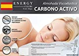 Almohada VISCO-ELÁSTICA Carbono Activo - Tex-Silver - Fabricado España (150)