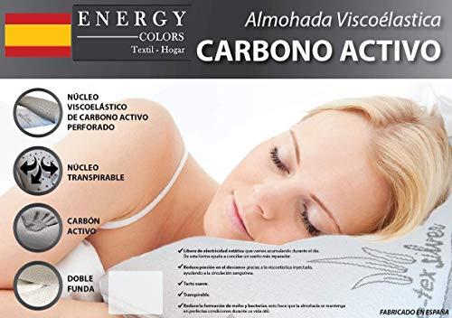 Almohada VISCO-ELÁSTICA Carbono Activo - Tex-Silver - Fabricado España (70)