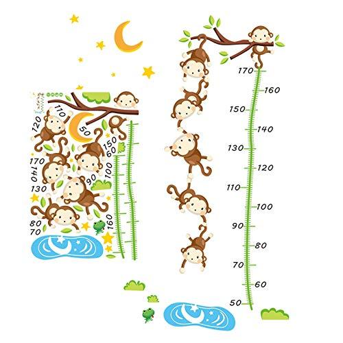 Gymqian Grabación de Crecimiento Gráfico de Crecimiento Del Bebé Gráficos de Altura de Los Niños para Niños Pegatinas de Pared Mediciones Formantes para Niños Accesorios de Dormitor