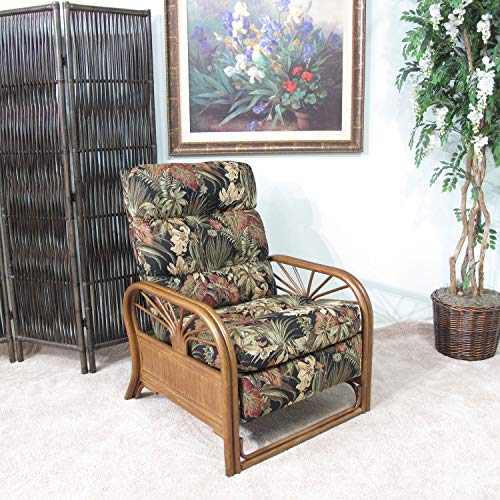 Made in USA Rattan Recliner Chair (#4534AW-PO)