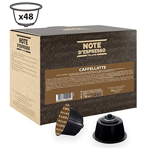 Note D'Espresso - Cápsulas de Caffelatte Instantáneo compatibles con cafeteras Dolce Gusto - 48 Unidades de 10g, Total: 480 g