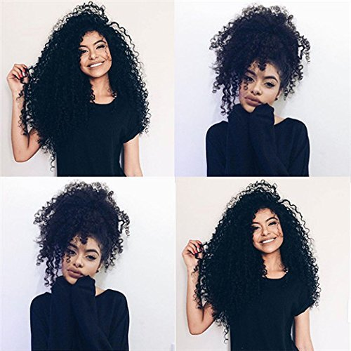 Brazilian Kinky Curly Clip In Hair Extensions 3B...
