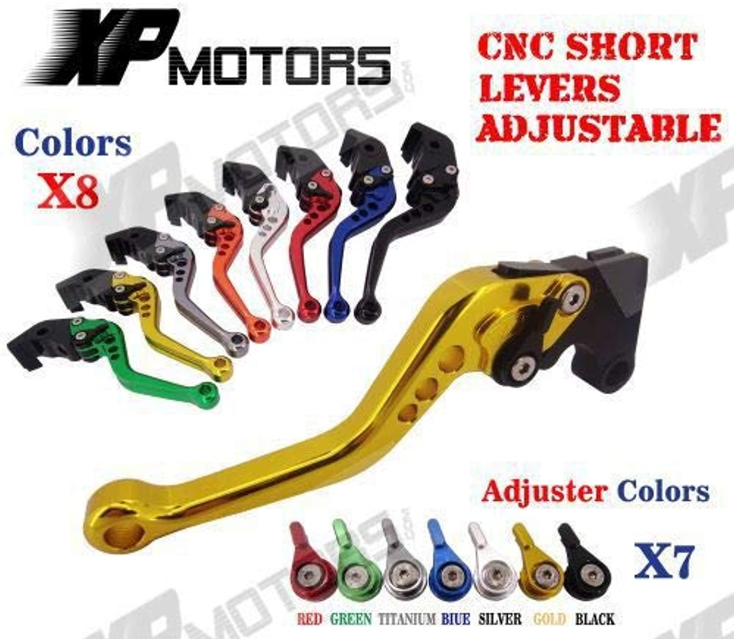 Brakes CNC Short Adjustable Brake Clutch Levers for Suzuki GsxR600 GsxR750 Gsxr600 Gsxr750 K4 K5 2004 2005 Lever with Adjuster