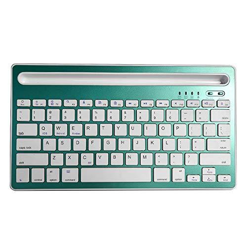 NYWENY Teclado de tableta, teclado de apoyo, teclado inalámbrico Bluetooth, exquisita moda, duradero, Gadgets, carga USB