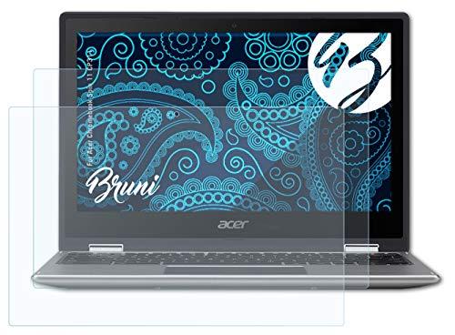 Bruni Schutzfolie kompatibel mit Acer Chromebook Spin 11 CP311 Folie, glasklare Bildschirmschutzfolie (2X)