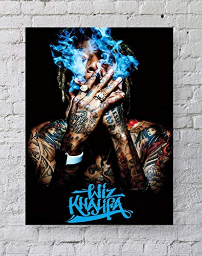 LLp Wiz Khalifa Poster Standard Size | 18-Inches by 24-Inches | Wiz Khalifa Smoke Wall Poster Print