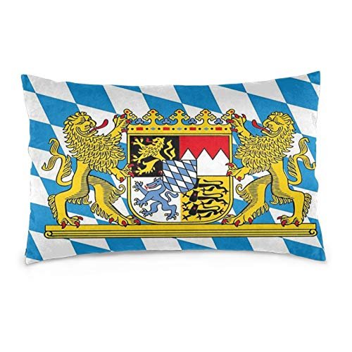 Bavarian Flag Throw Pillow Covers Halloween Cushion Covers Rectangle Pillow Shells Decorative Pillowcase Sofa Bed Home Office 14'x20'