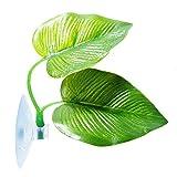 knowledgi - Planta Artificial de plástico para Acuario, decoración de Hojas de Betta de Hierba Verde, Tarro de Peces con Ventosa, Hamaca con Hoja de Betta para Descansar Plantas acuáticas flotantes