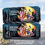 Walt Disney World Florida Orlando Disneyland Paris Land - Cartera para tarjetas de visita, diseño con texto en inglés All Characters