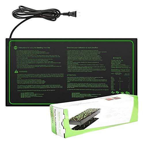 Bluetooth earphone Propagador Calentado, Plántula Matera De Calor Semillas De Semillas De Semillas PVC PVC Negro a Prueba De Agua para Plántulas De Jardinería En Interiores con Control De Temperatura