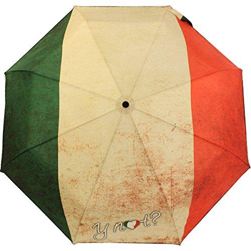 Y Not Taschenschirm mit Auf-Zu Automatik - Flag Italy Italien